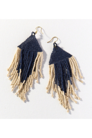Ink + Alloy Two Toned Seed Bead Earring - Product Mini Image