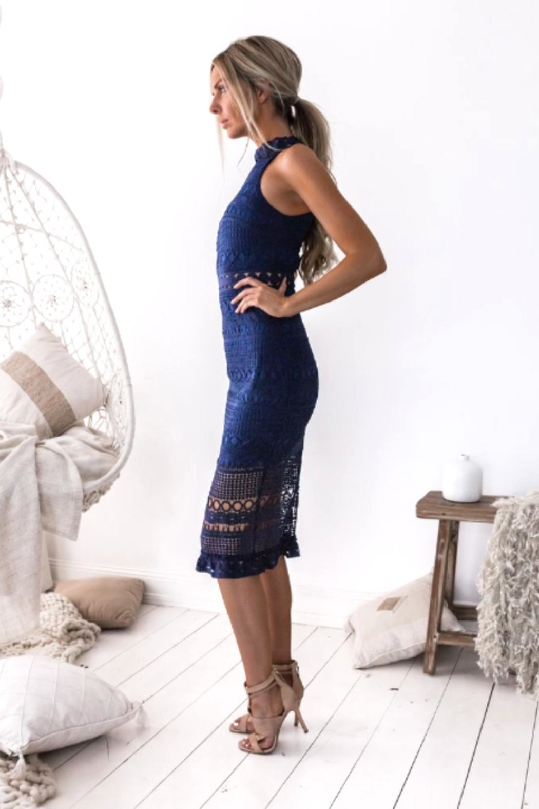 Two Sisters River Midi Dress - Front Full Image
