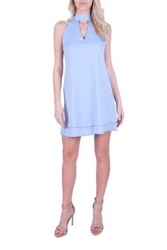 Shoptiques Product: Blue Tie Front Dress