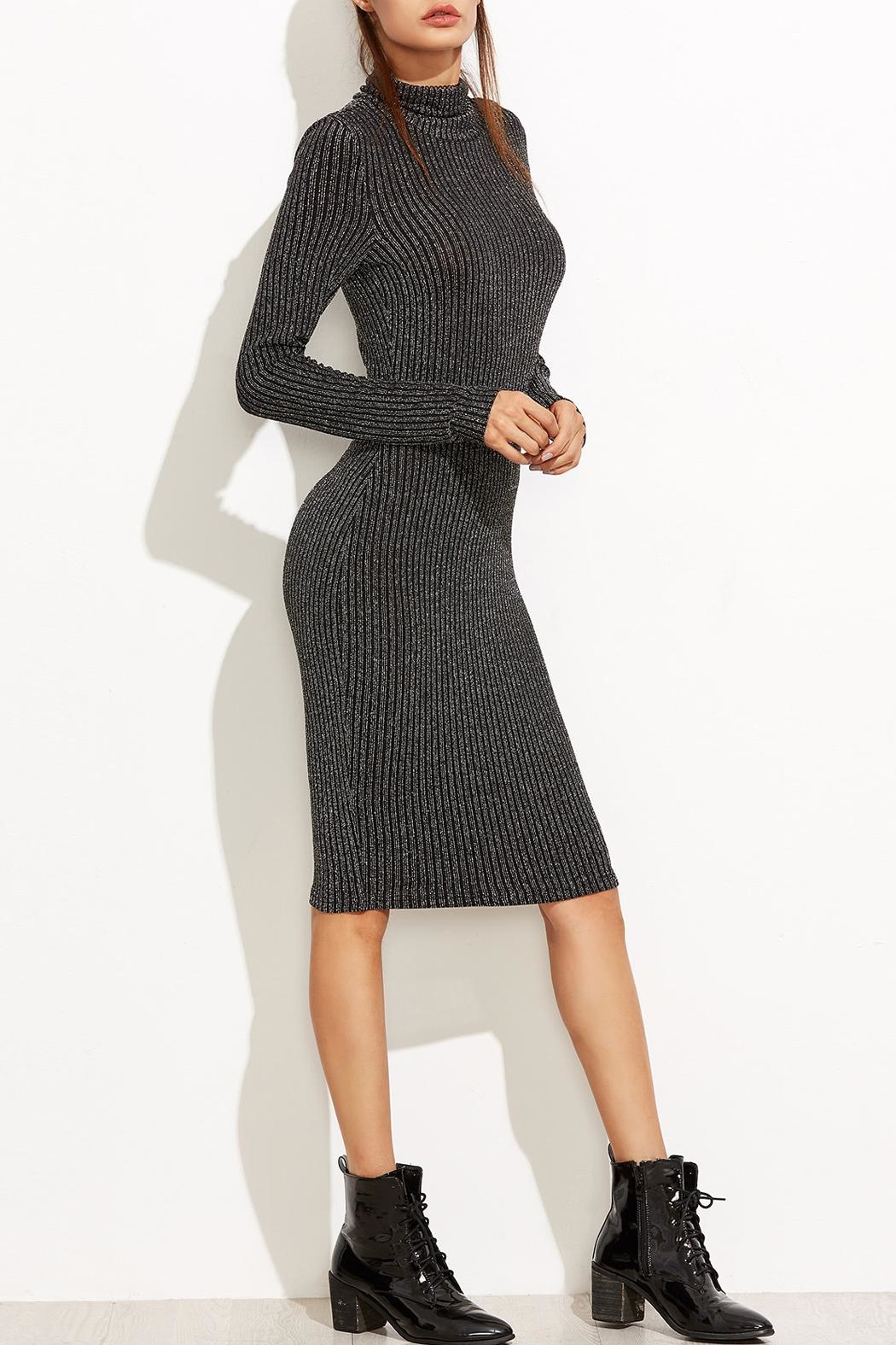 Tyche Body-Con Knit Dress - Front Full Image