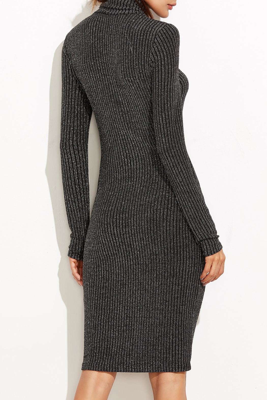 Tyche Body-Con Knit Dress - Back Cropped Image