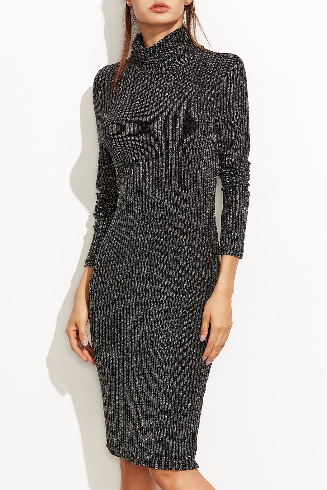 Tyche Body-Con Knit Dress - Side Cropped Image