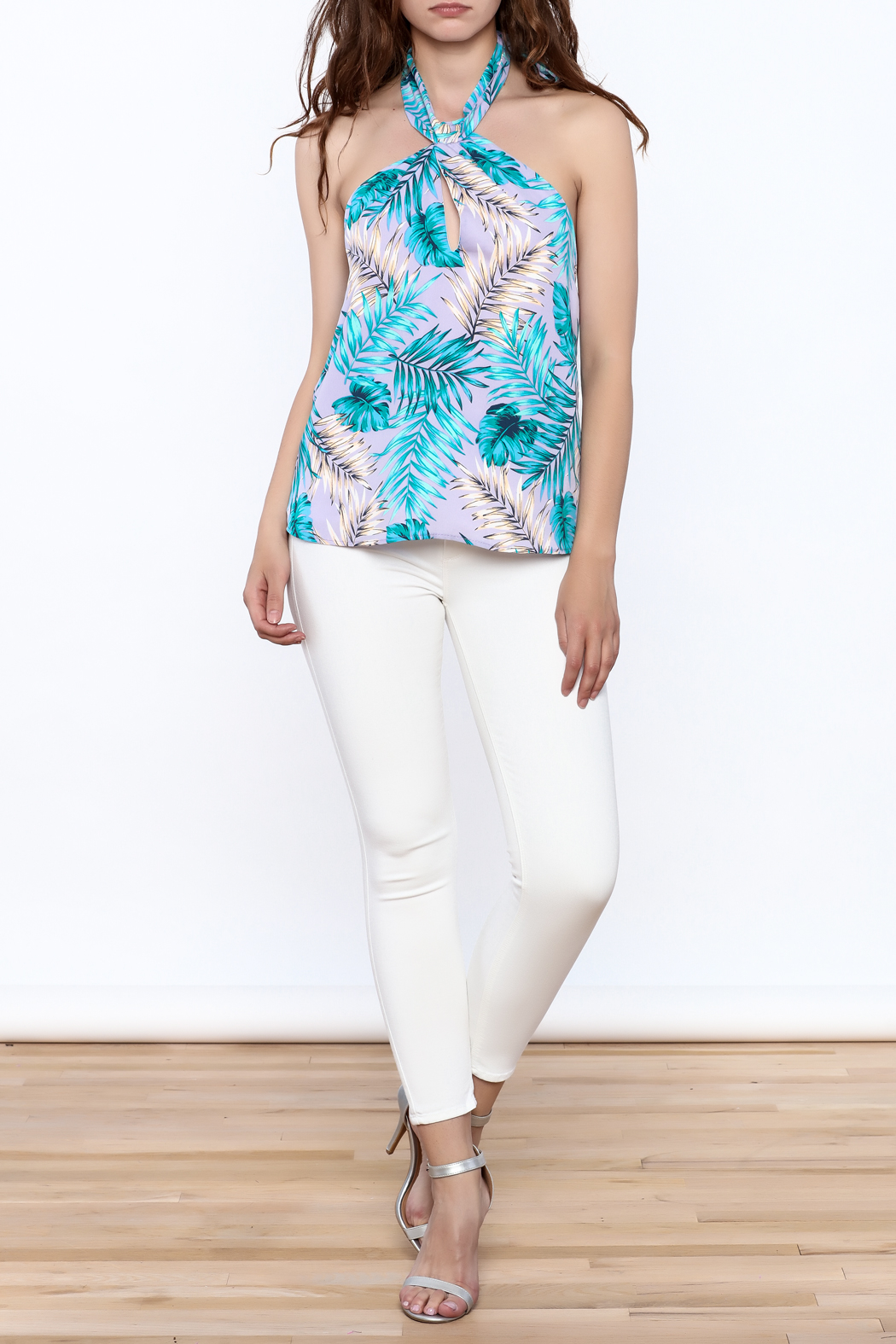 Tyche Floral Halter Blouse - Front Full Image