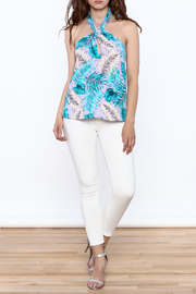 Tyche Floral Halter Blouse - Front full body