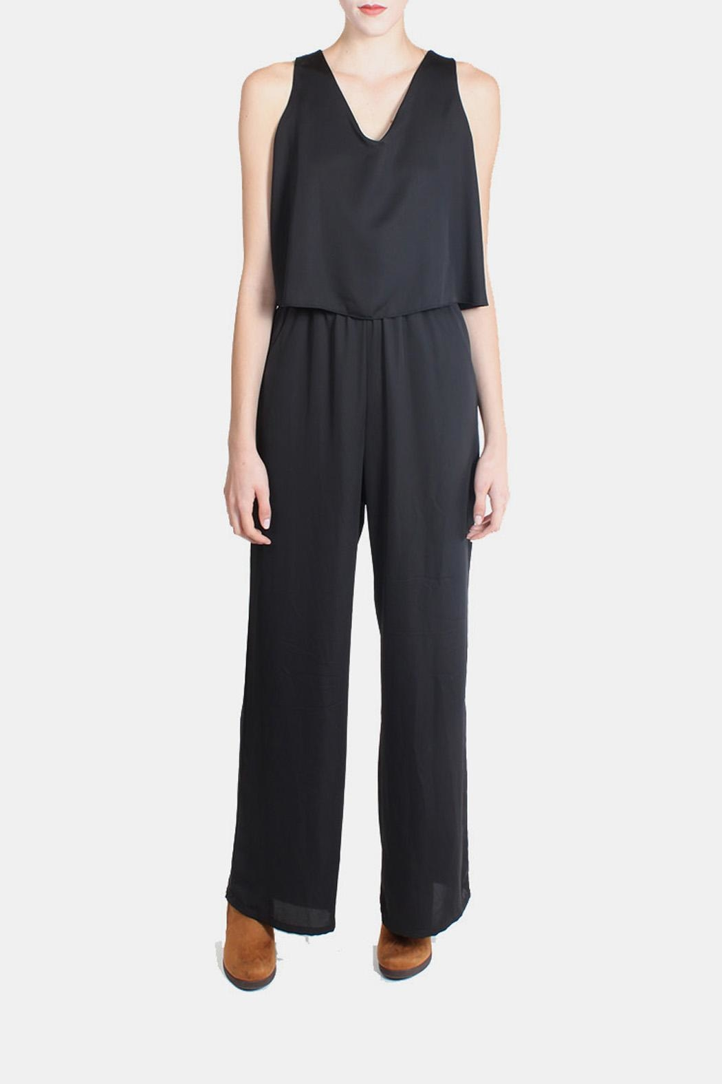 Tyche Flutter Jumpsuit In Black - Main Image