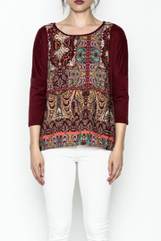 Tyche Indian Floral Top - Front full body