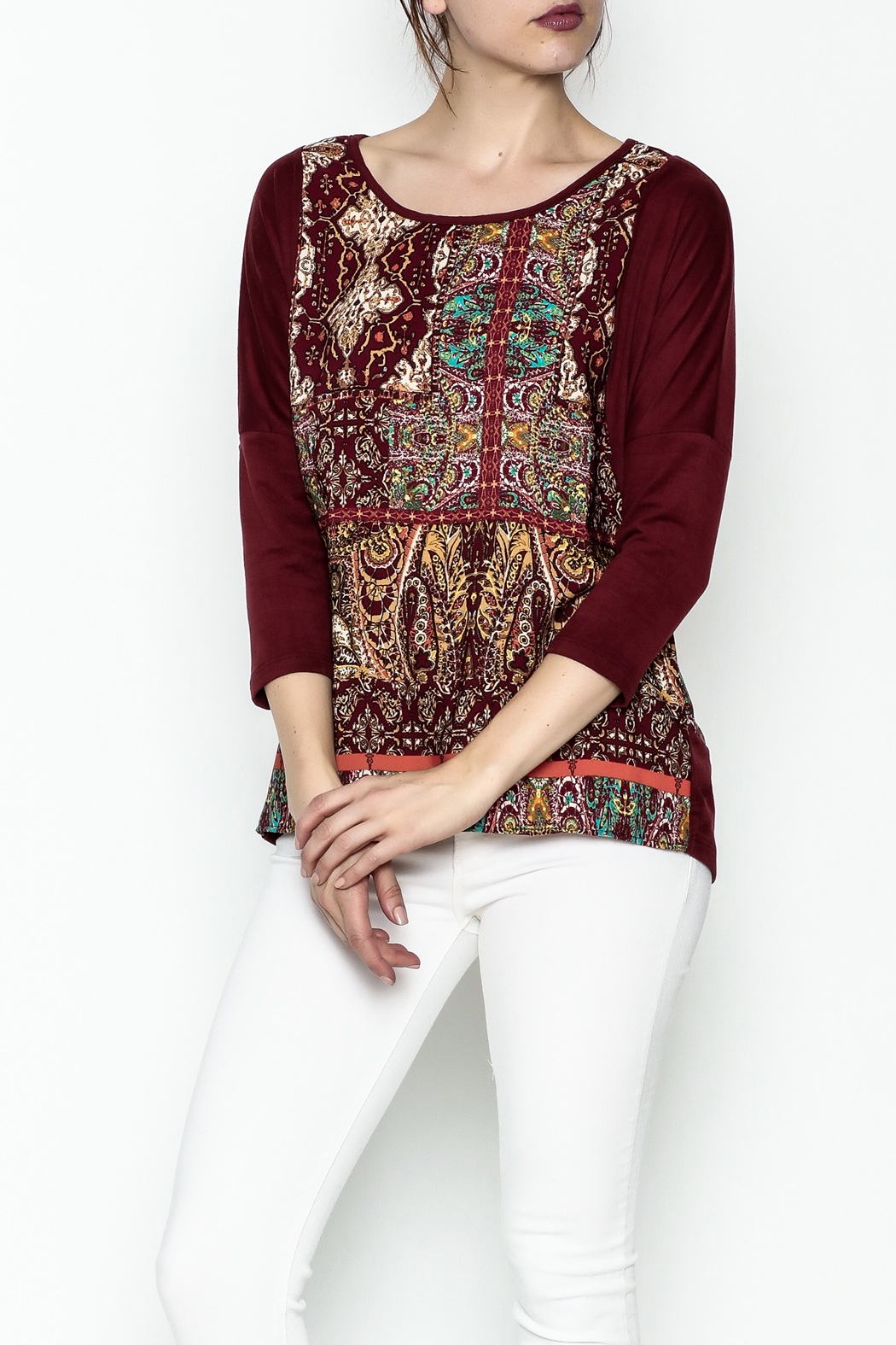 Tyche Indian Floral Top - Main Image