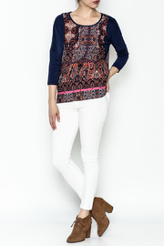 Tyche Indian Floral Top - Side cropped