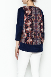 Tyche Indian Floral Top - Back cropped