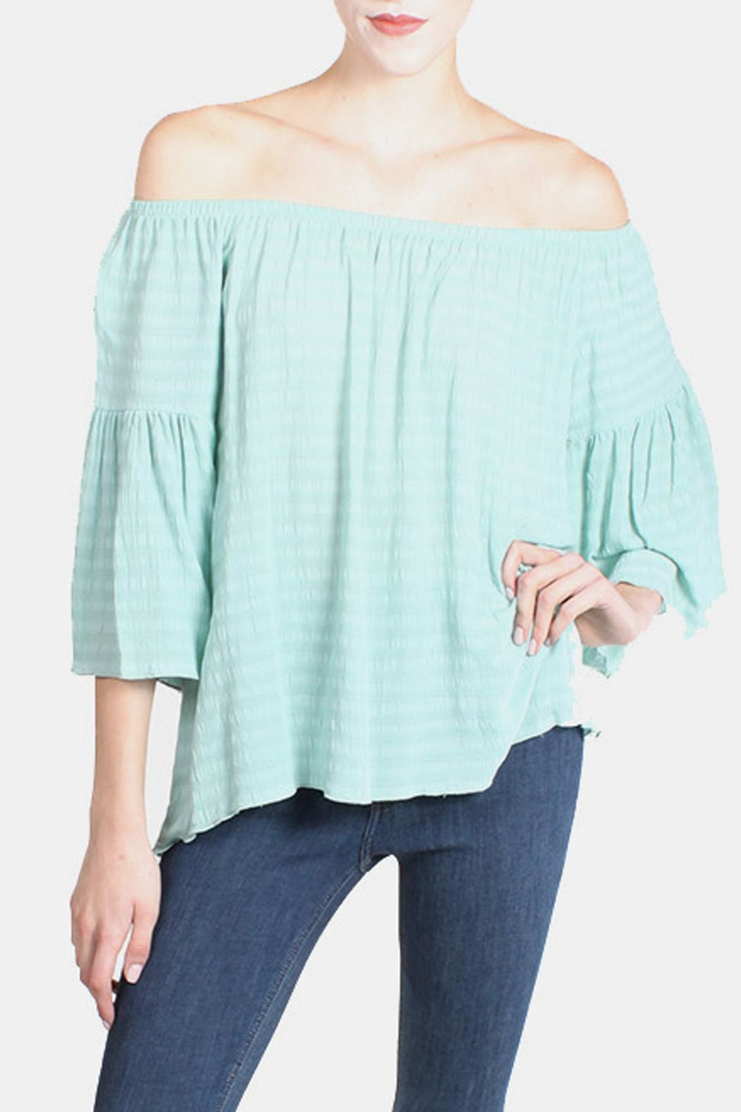 Tyche Mint Blouse - Front Cropped Image