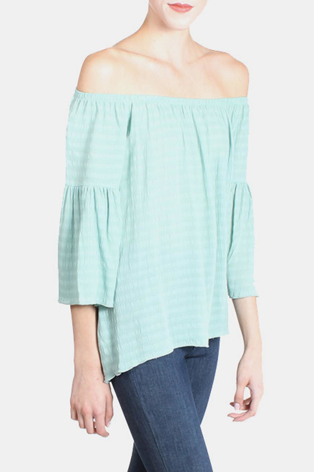 Tyche Mint Blouse - Back Cropped Image