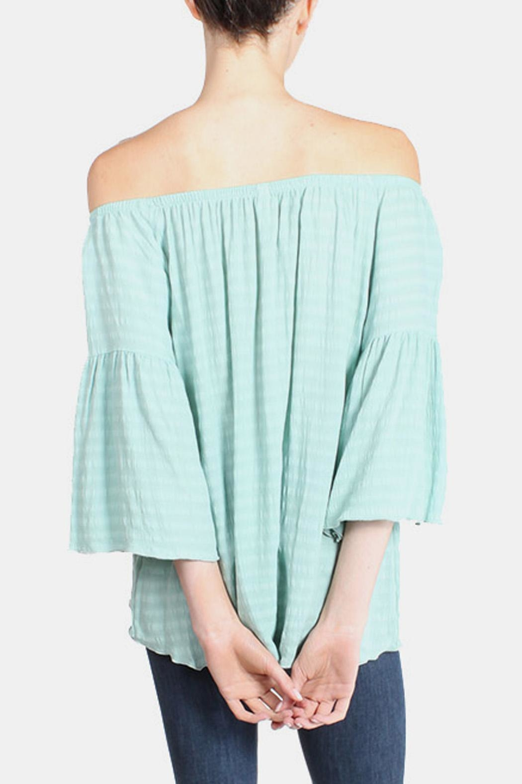 Tyche Mint Blouse - Side Cropped Image