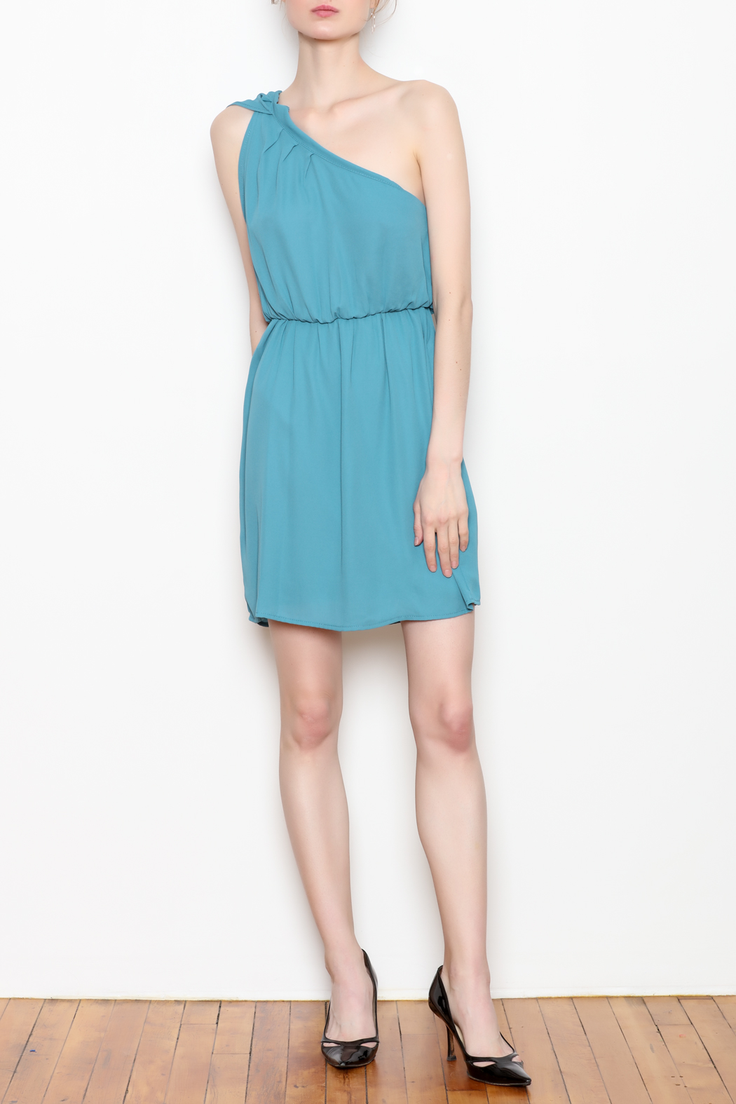 Tyche One Shoulder Dress - Side Cropped Image