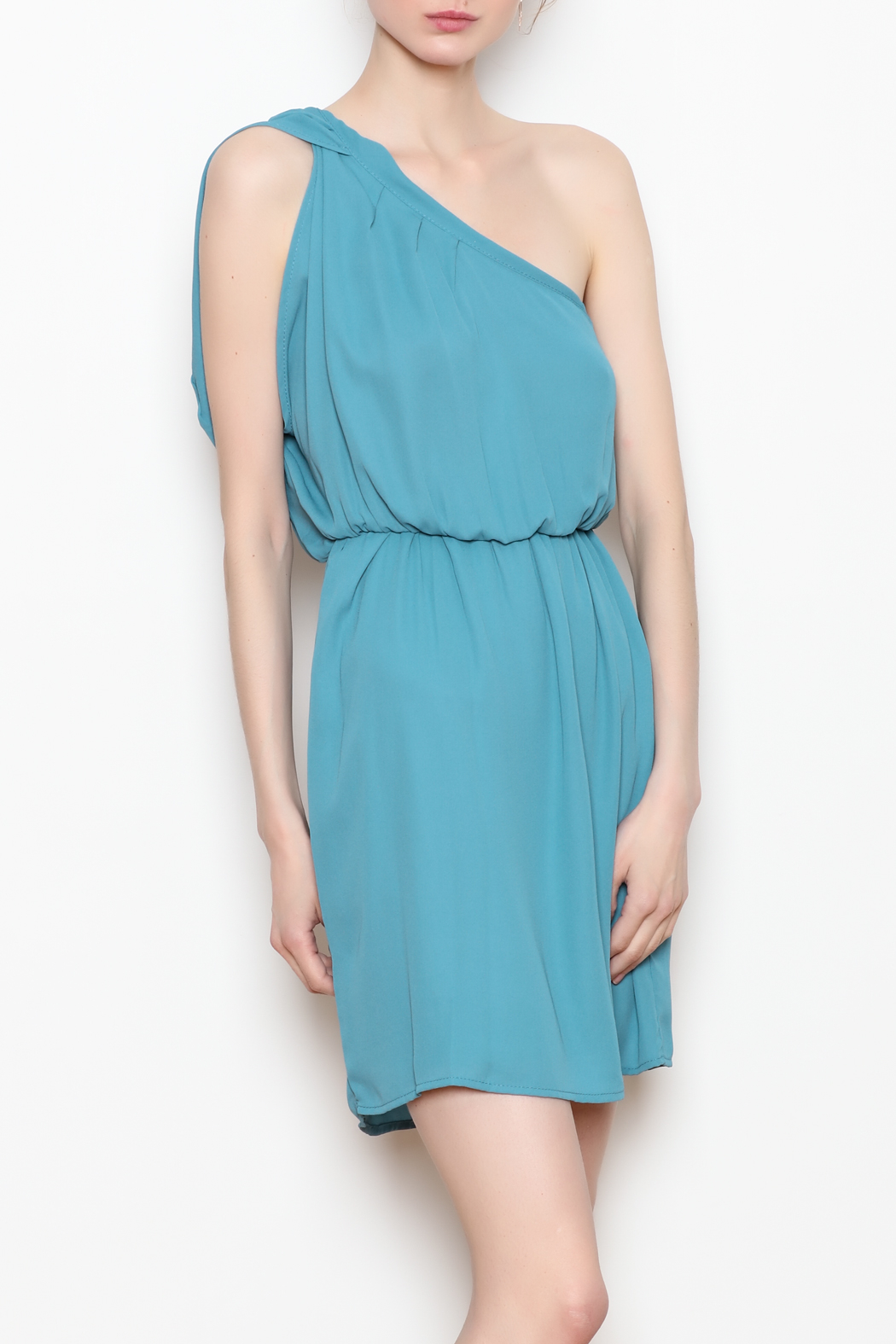 Tyche One Shoulder Dress - Front Full Image