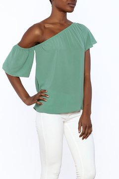 Shoptiques Product: One Shoulder Ruffle Top
