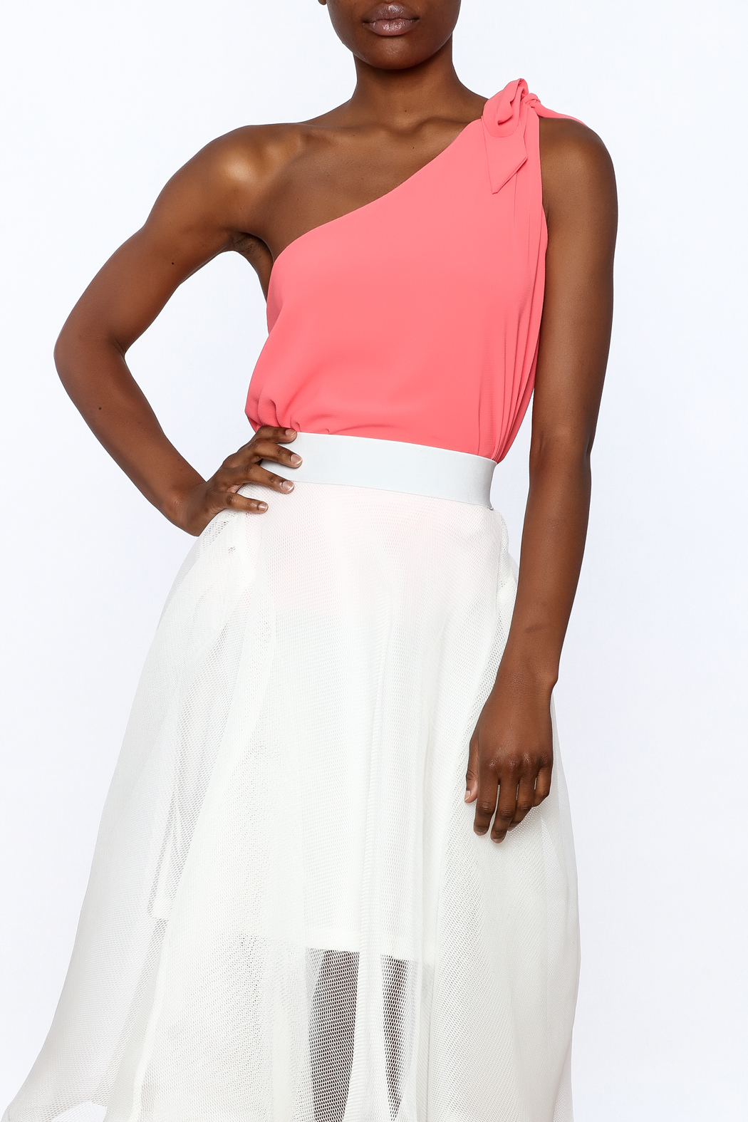 Tyche One Shoulder Top - Front Cropped Image