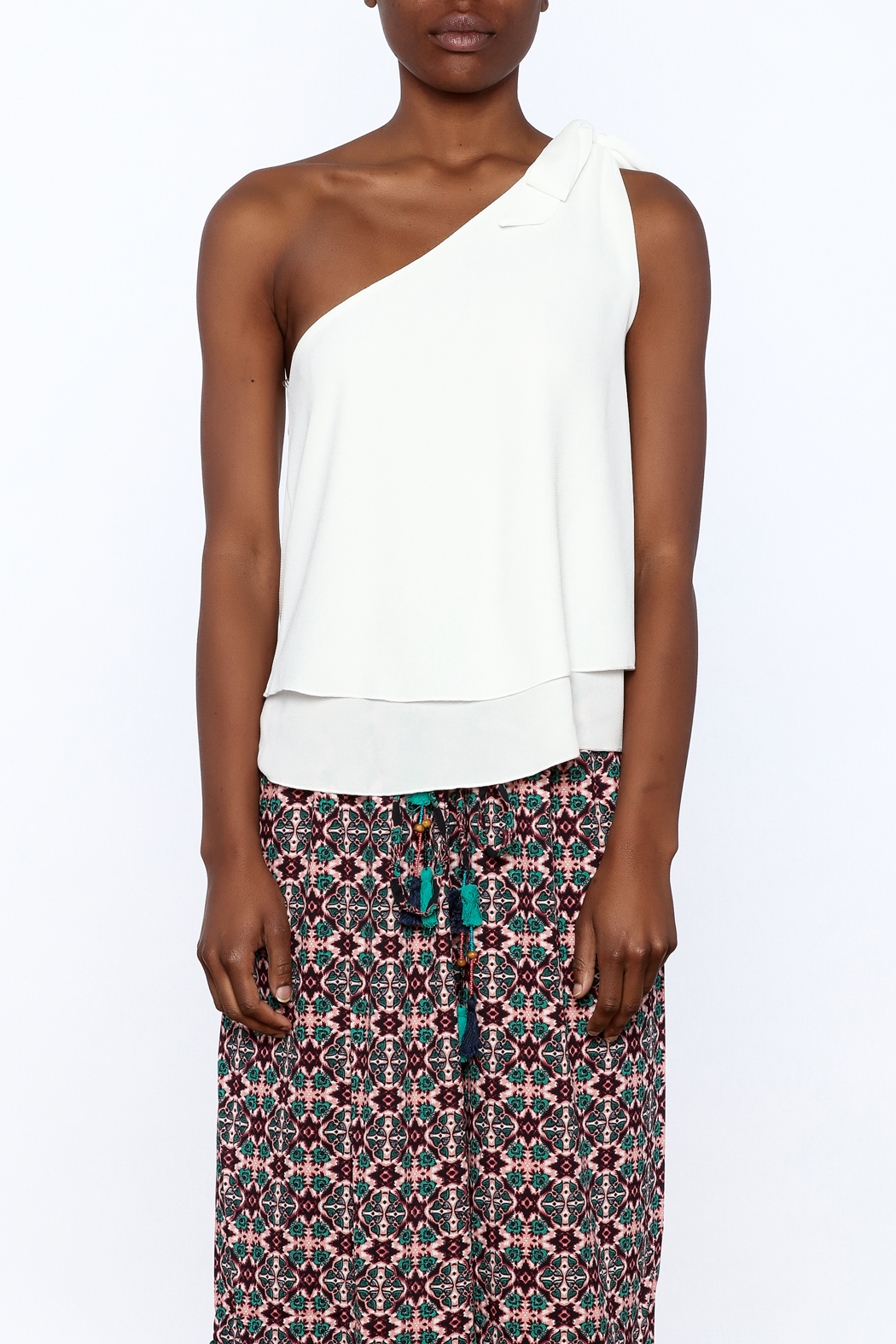 Tyche One Shoulder Top - Side Cropped Image