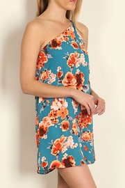 Tyche One Shoulder Floral Dress - Front full body