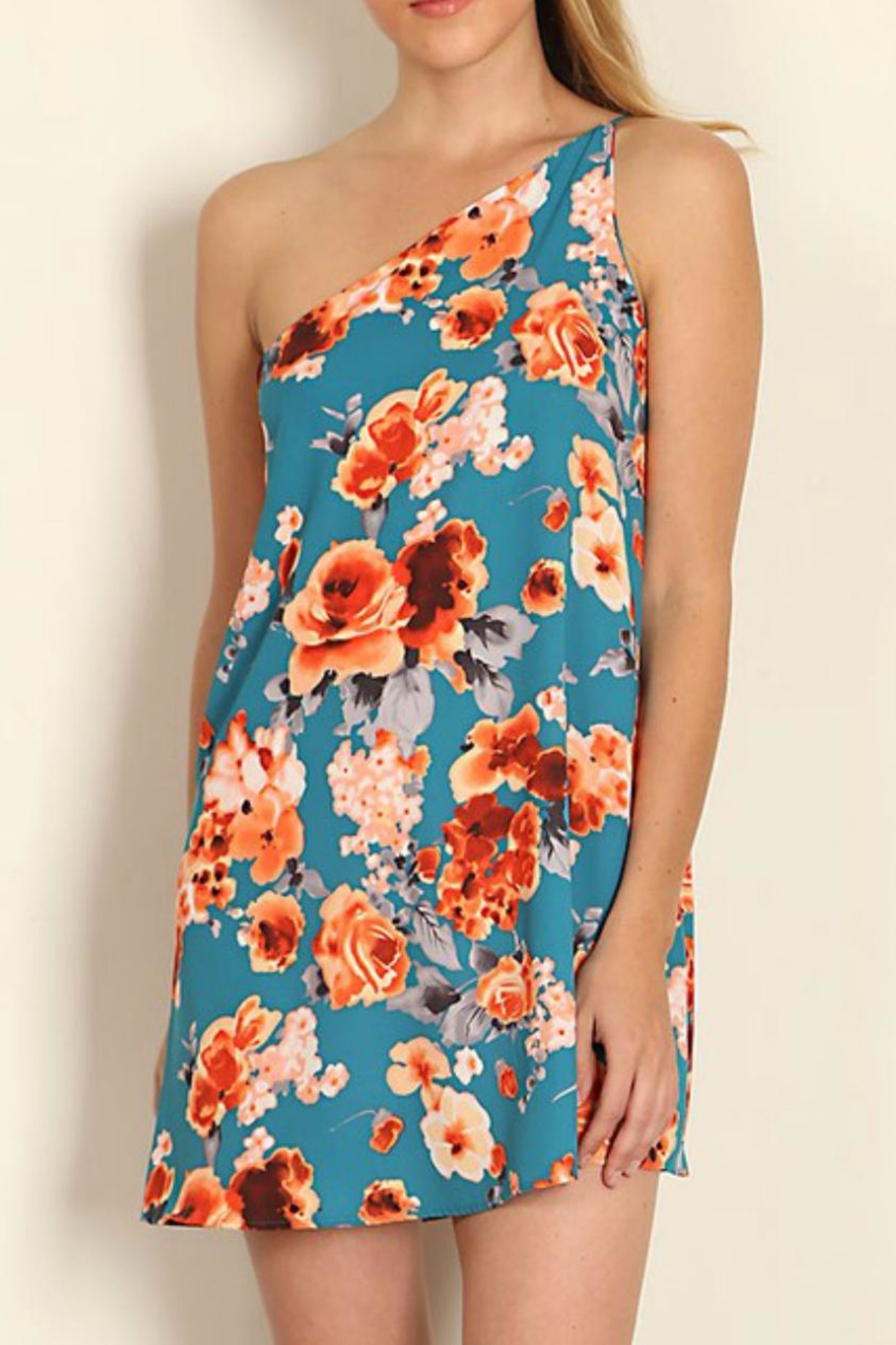 Tyche One Shoulder Floral Dress - Main Image