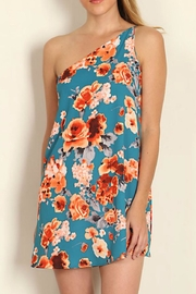 Tyche One Shoulder Floral Dress - Front cropped