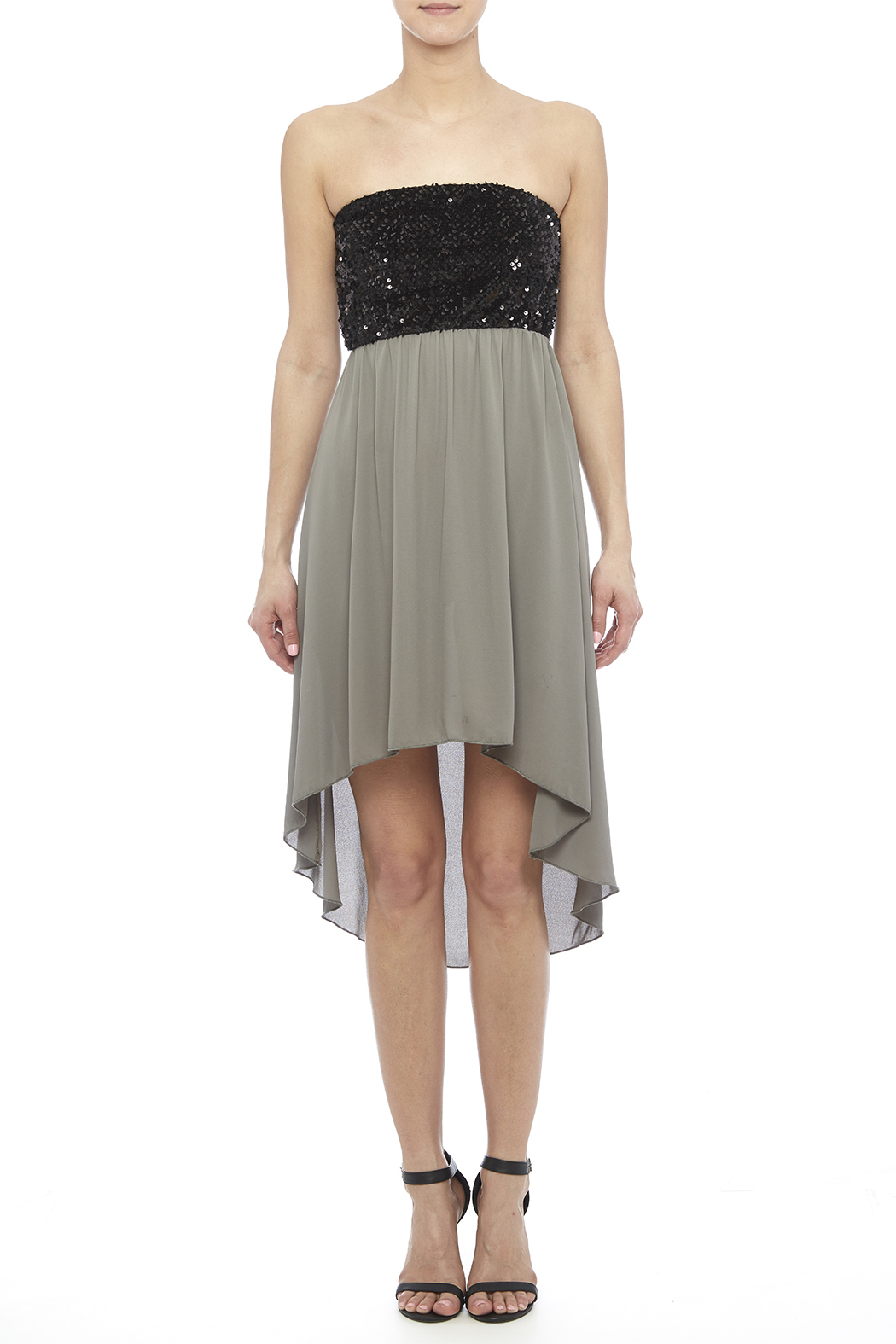 Tyche Sequin Bodice Dress - Front Cropped Image