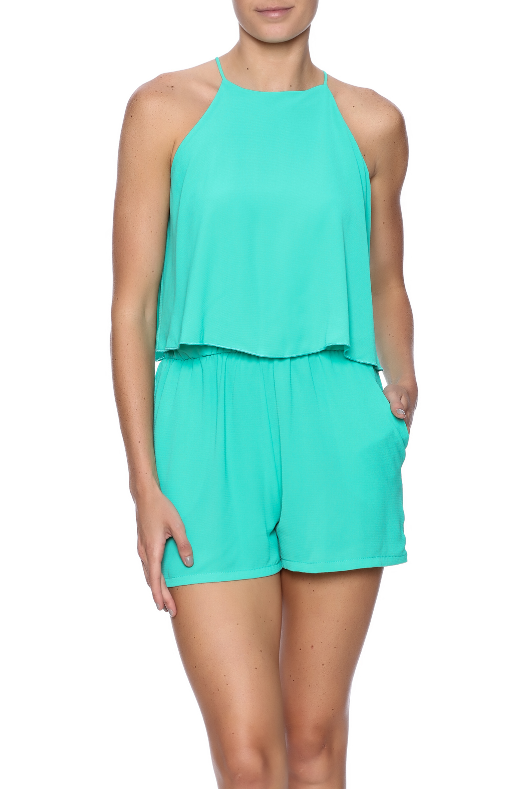 dacede670b3 Tyche Bright Flounce Romper from New York by Dor L Dor — Shoptiques