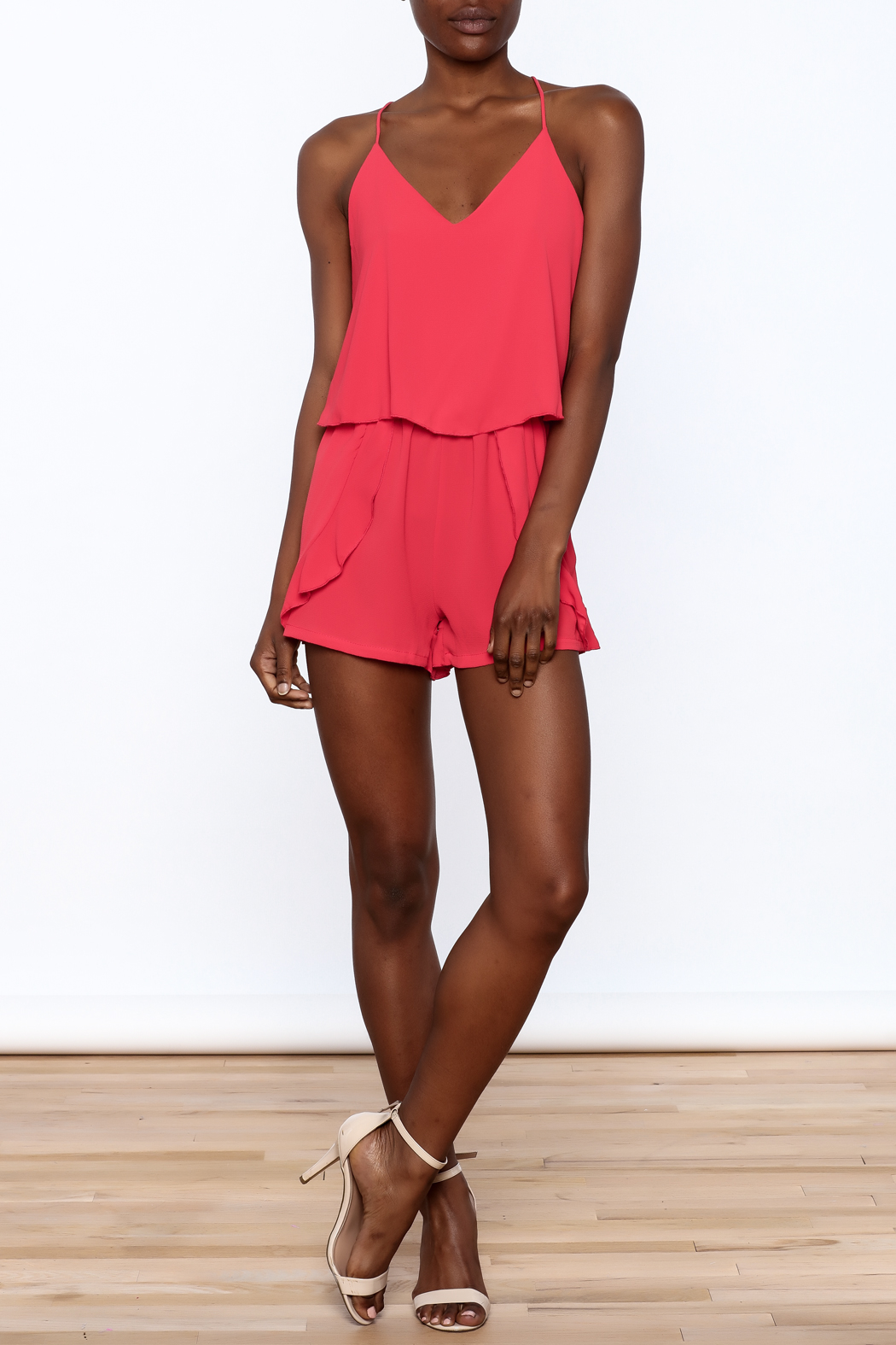 Tyche Soft Sleeveless Romper - Front Full Image