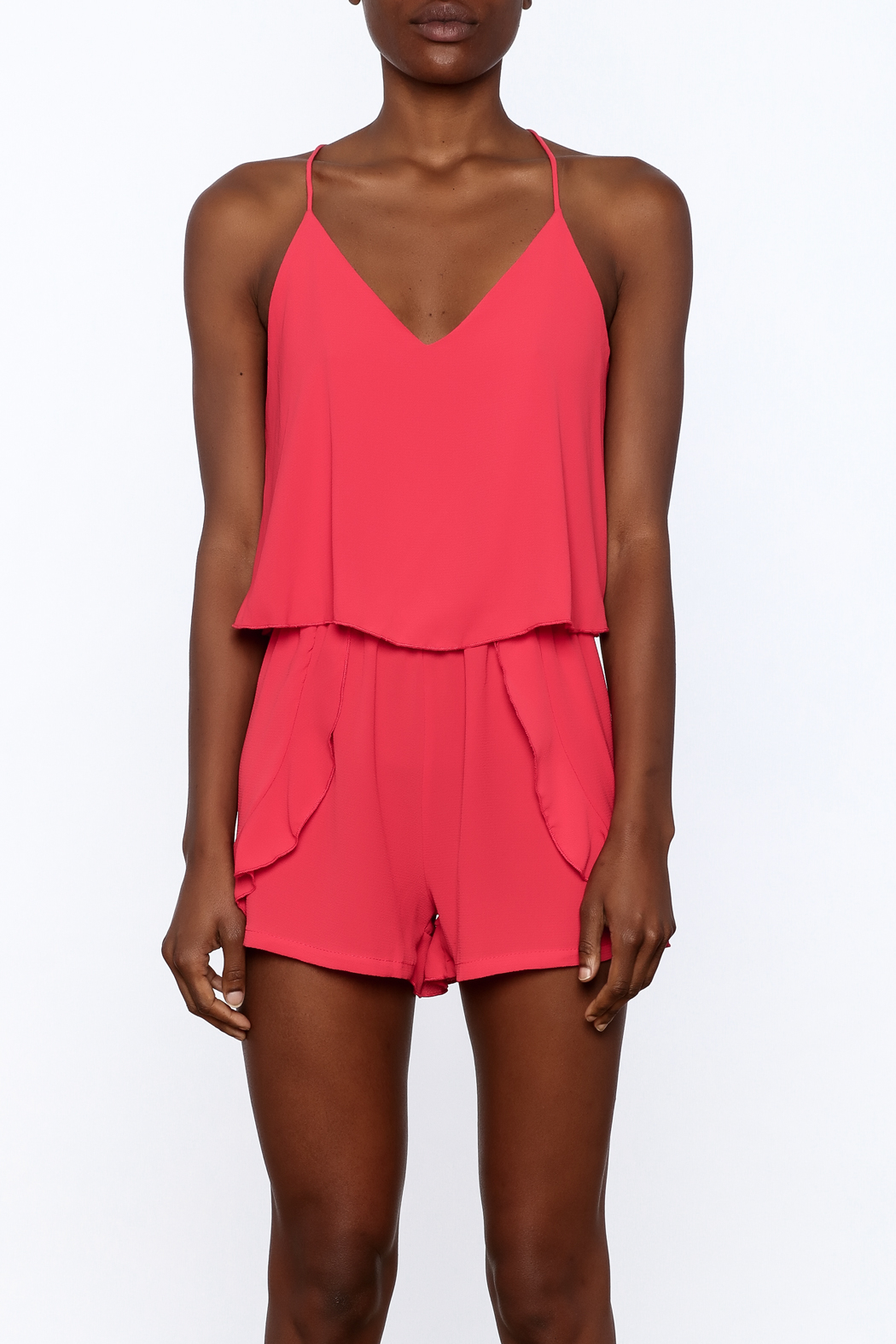 Tyche Soft Sleeveless Romper - Side Cropped Image