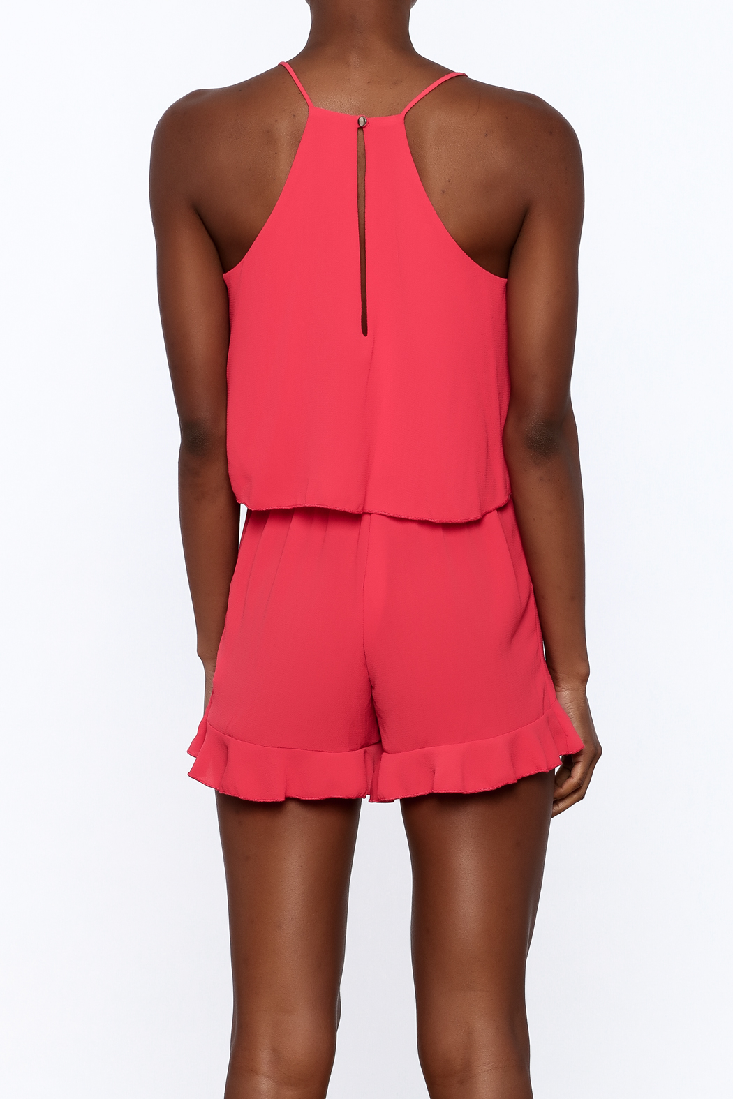 Tyche Soft Sleeveless Romper - Back Cropped Image