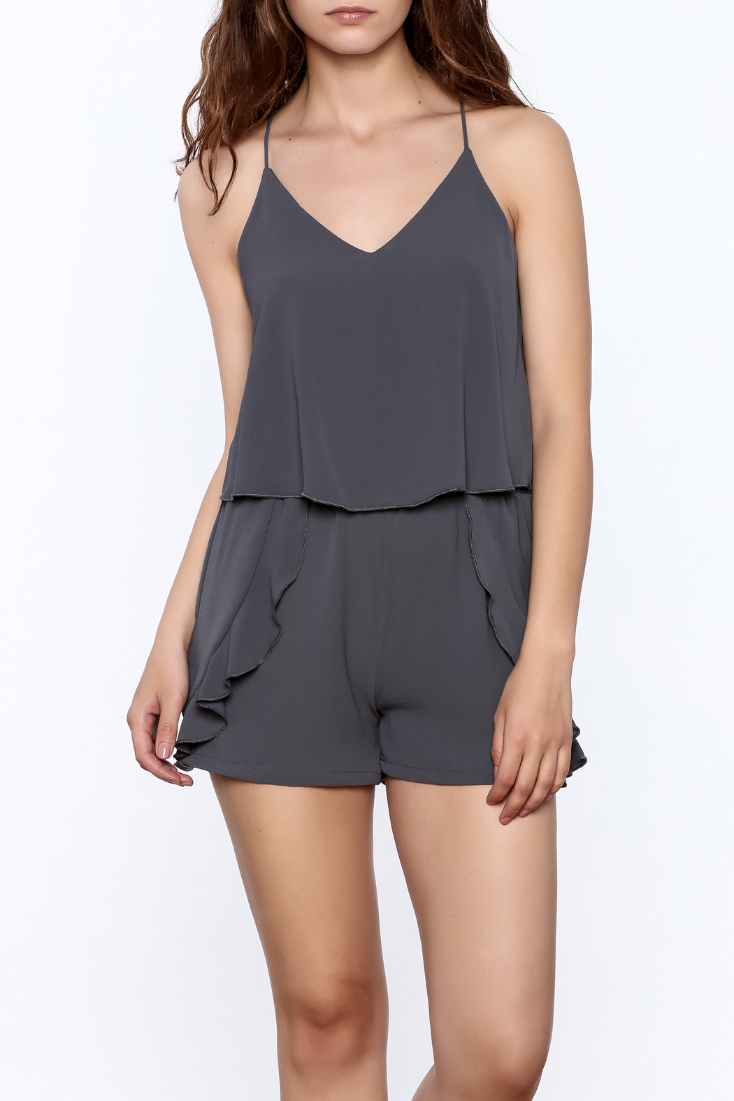 Tyche Soft Sleeveless Romper - Front Cropped Image