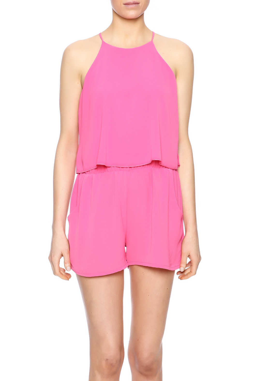Tyche Tiered Romper - Side Cropped Image
