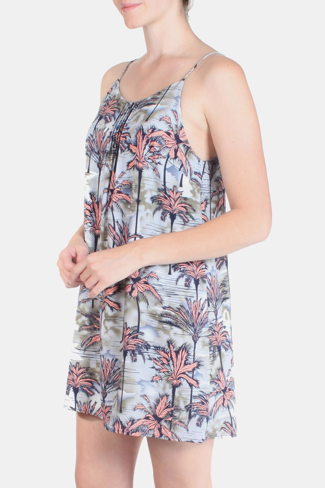 Tyche Tropical Waters Mini Dress - Front Cropped Image