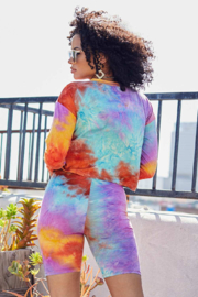 main strip  Tie Dye Biker Short Set - Other