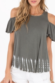 Others Follow  Tye Dye Cold Shoulder Top - Product Mini Image