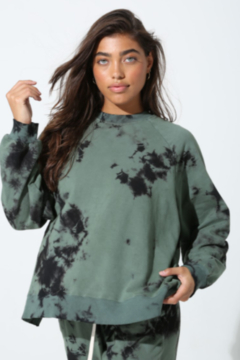 Electric Rose Tye Dye Oversized Pull-Over - Product List Image