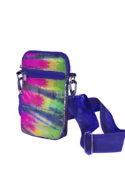 top trendz Tye Dye Puffer Cell Phone Bag - Front cropped