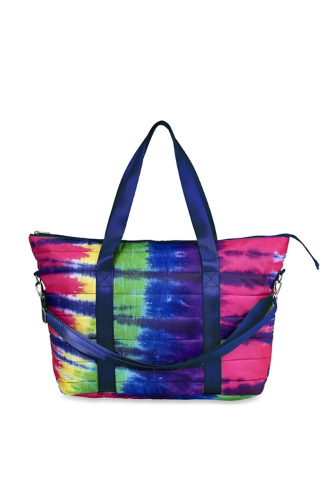 top trendz Tye Dye Puffer Tote - Front Cropped Image