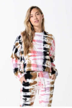 Electric Rose Tye Dye Pull-Over - Product List Image