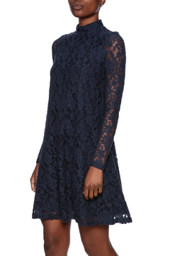 Tyler Boe Navy Lace Dress - Product List Image