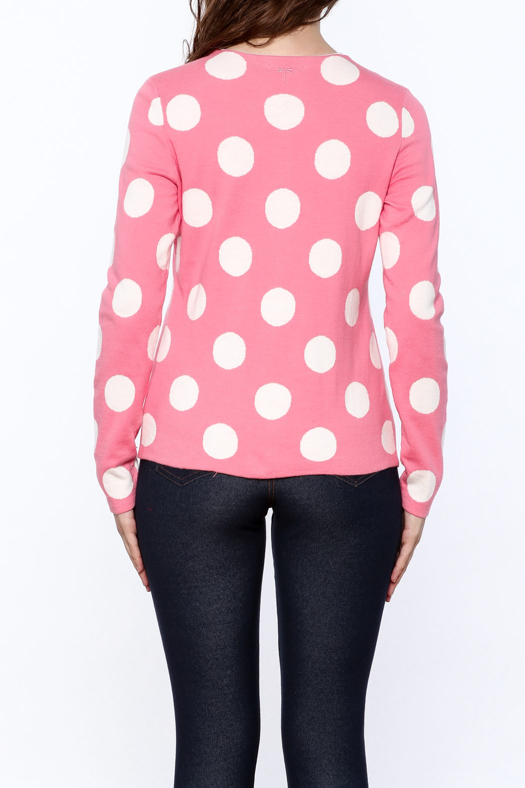 Tyler Boe Pink Button Down Cardigan - Back Cropped Image