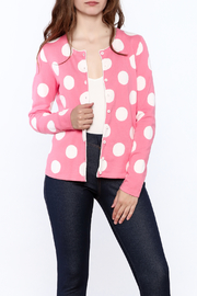 Tyler Boe Pink Button Down Cardigan - Front cropped