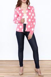 Tyler Boe Pink Button Down Cardigan - Front full body