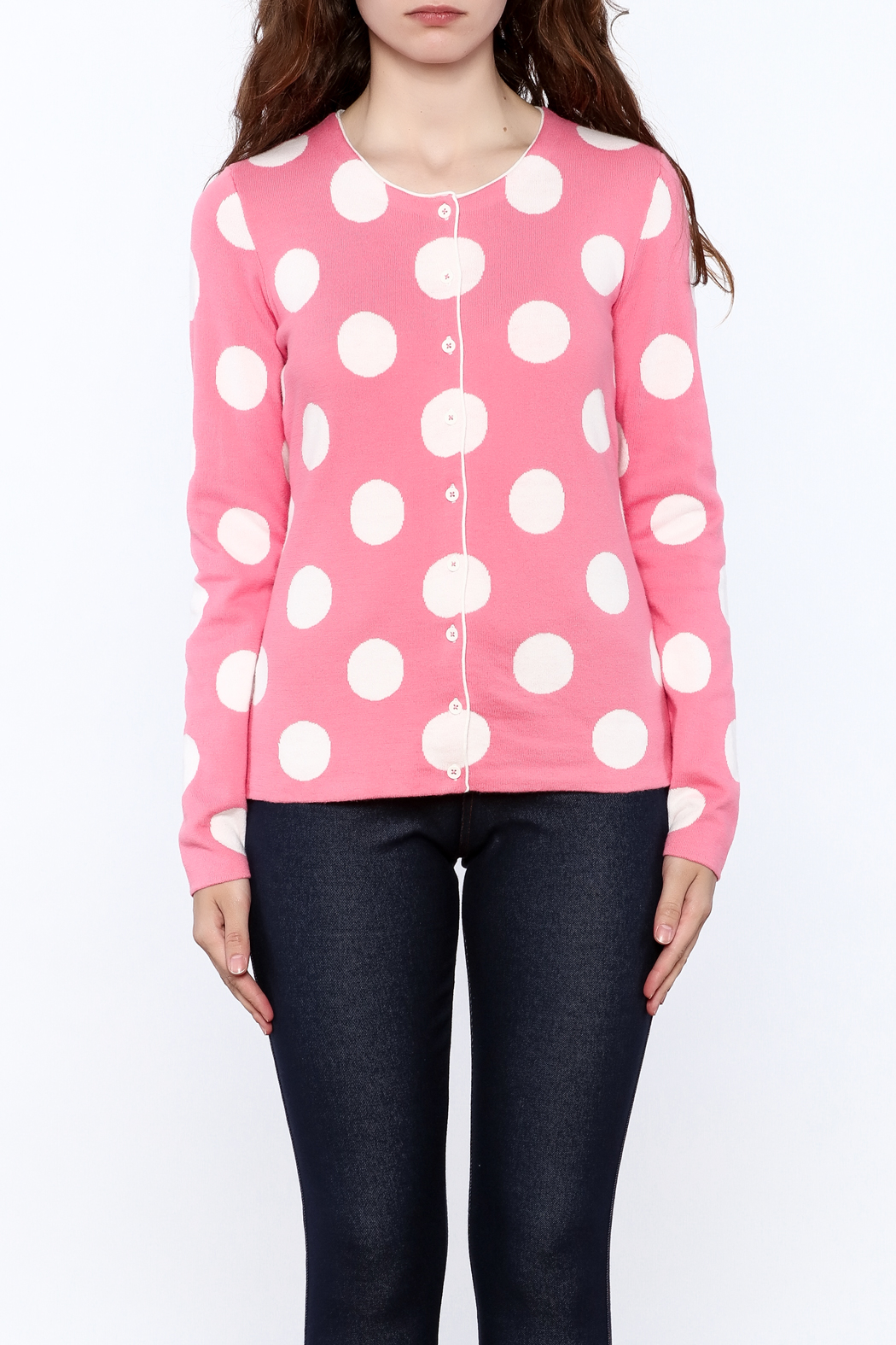 Tyler Boe Pink Button Down Cardigan - Side Cropped Image