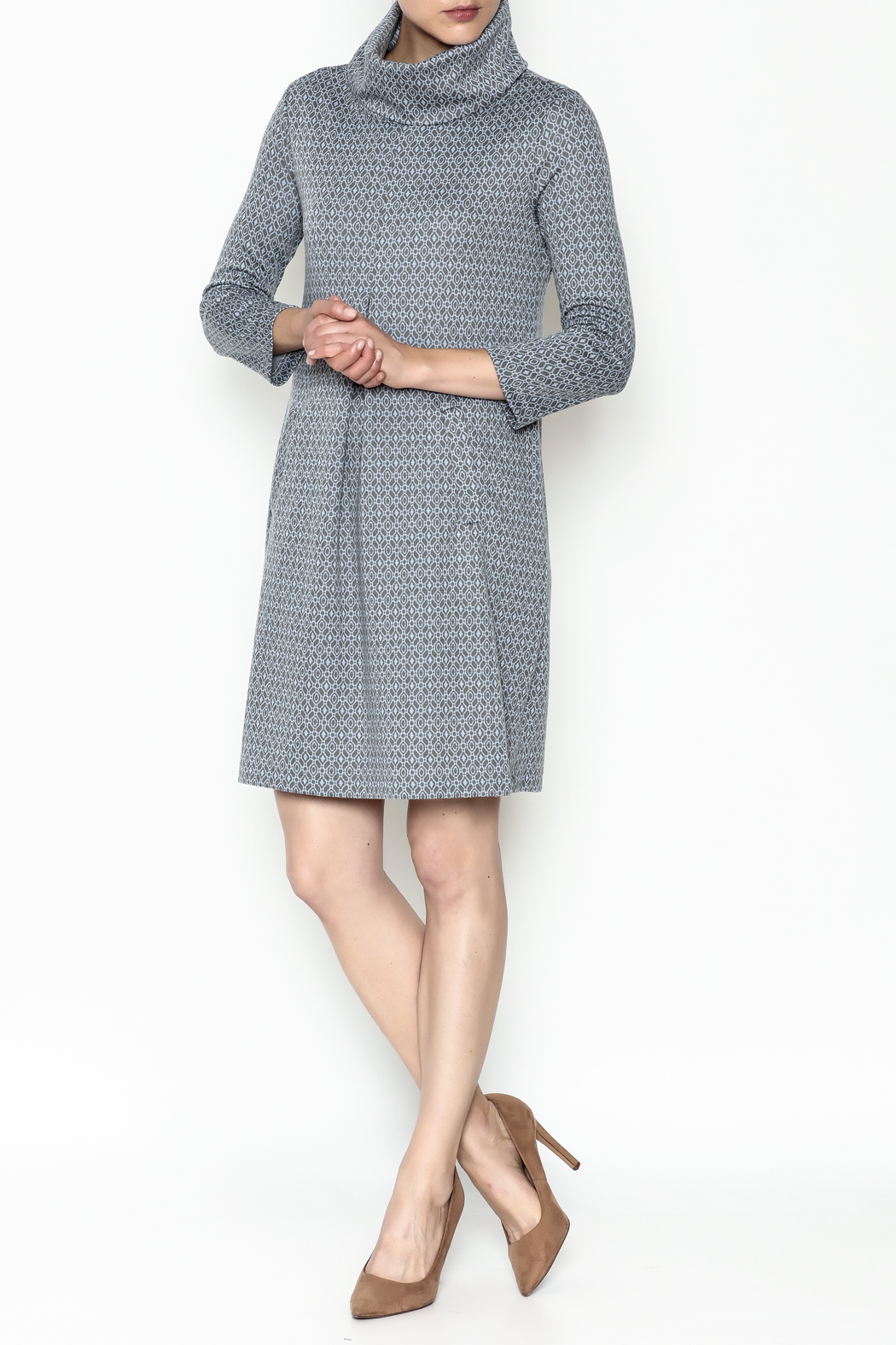 Tyler Boe Kim Cowl Dress - Side Cropped Image