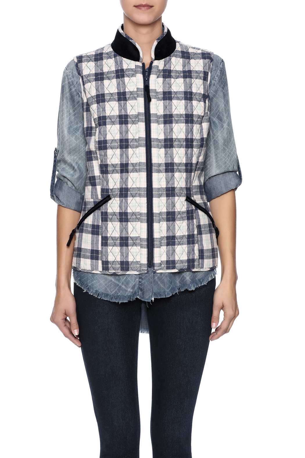 Tyler Boe Quilted Tailored Vest - Side Cropped Image