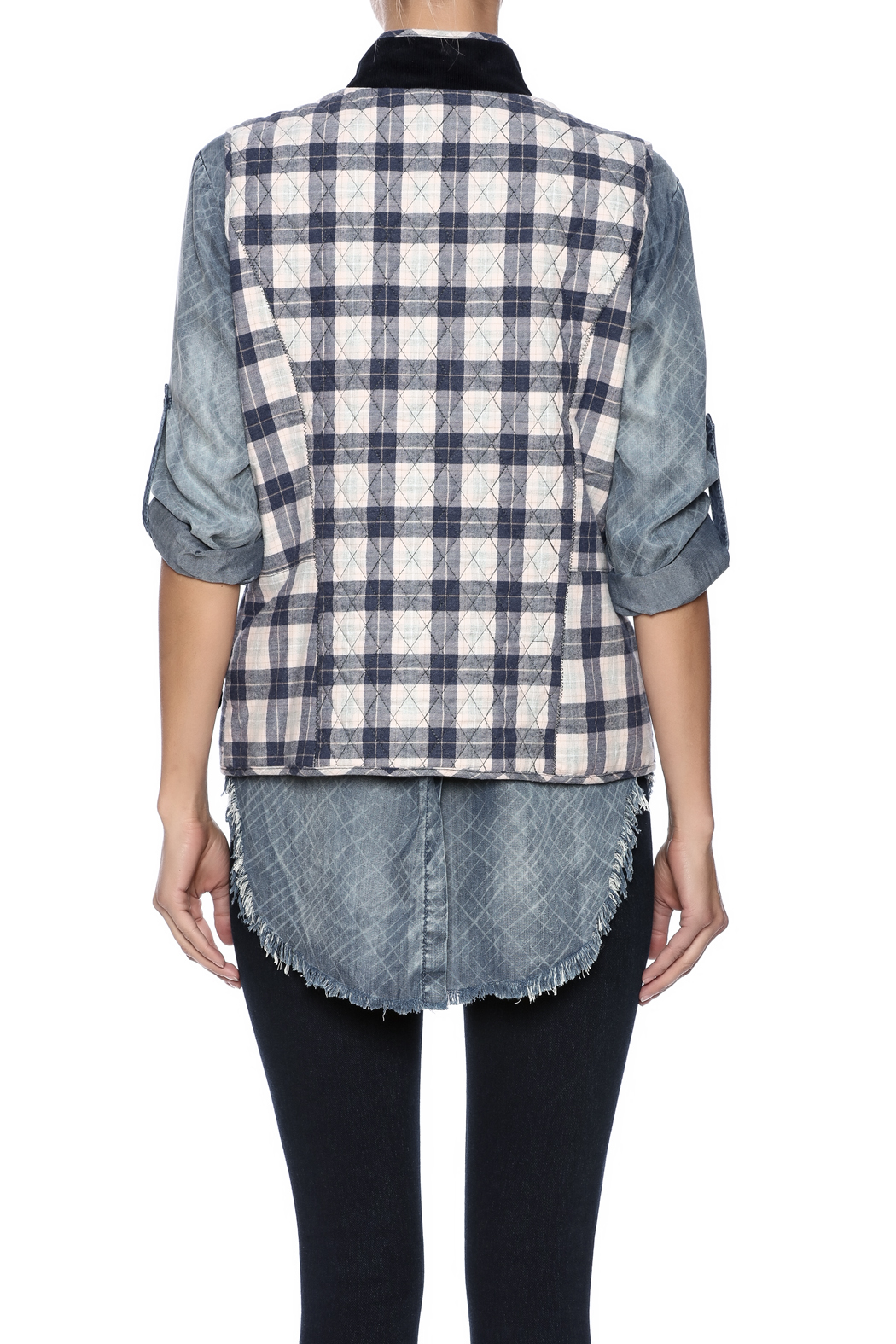 Tyler Boe Quilted Tailored Vest - Back Cropped Image