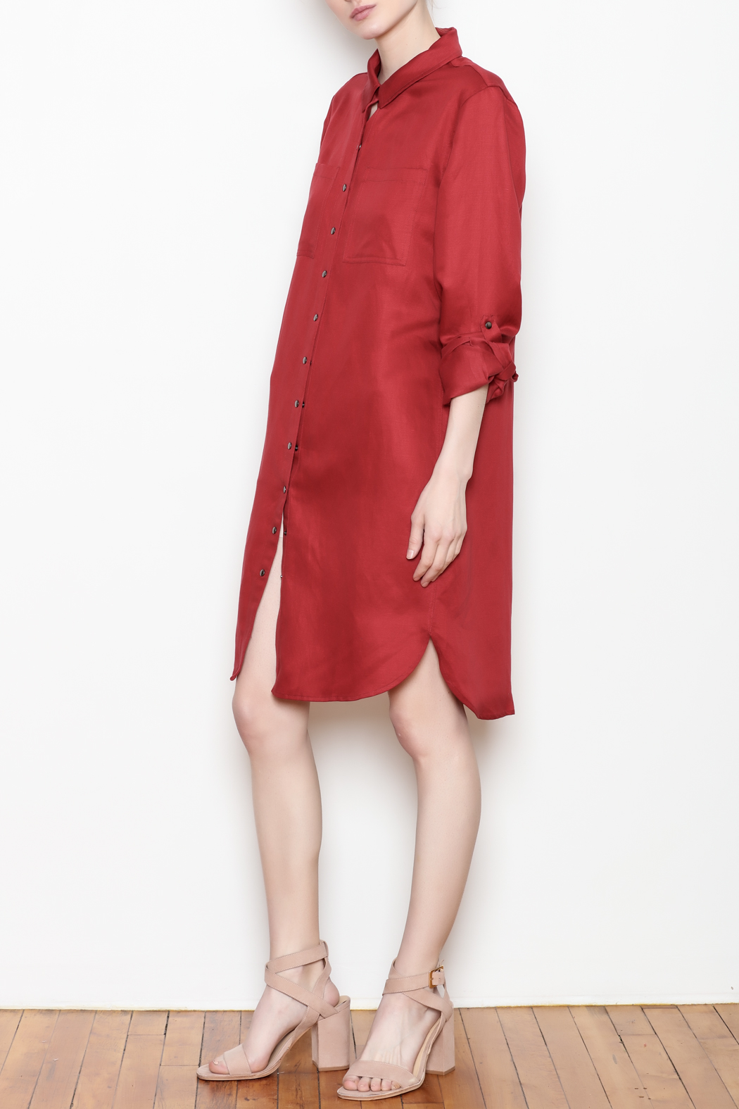 Tyler Boe Shirtdress Button Front - Front Full Image
