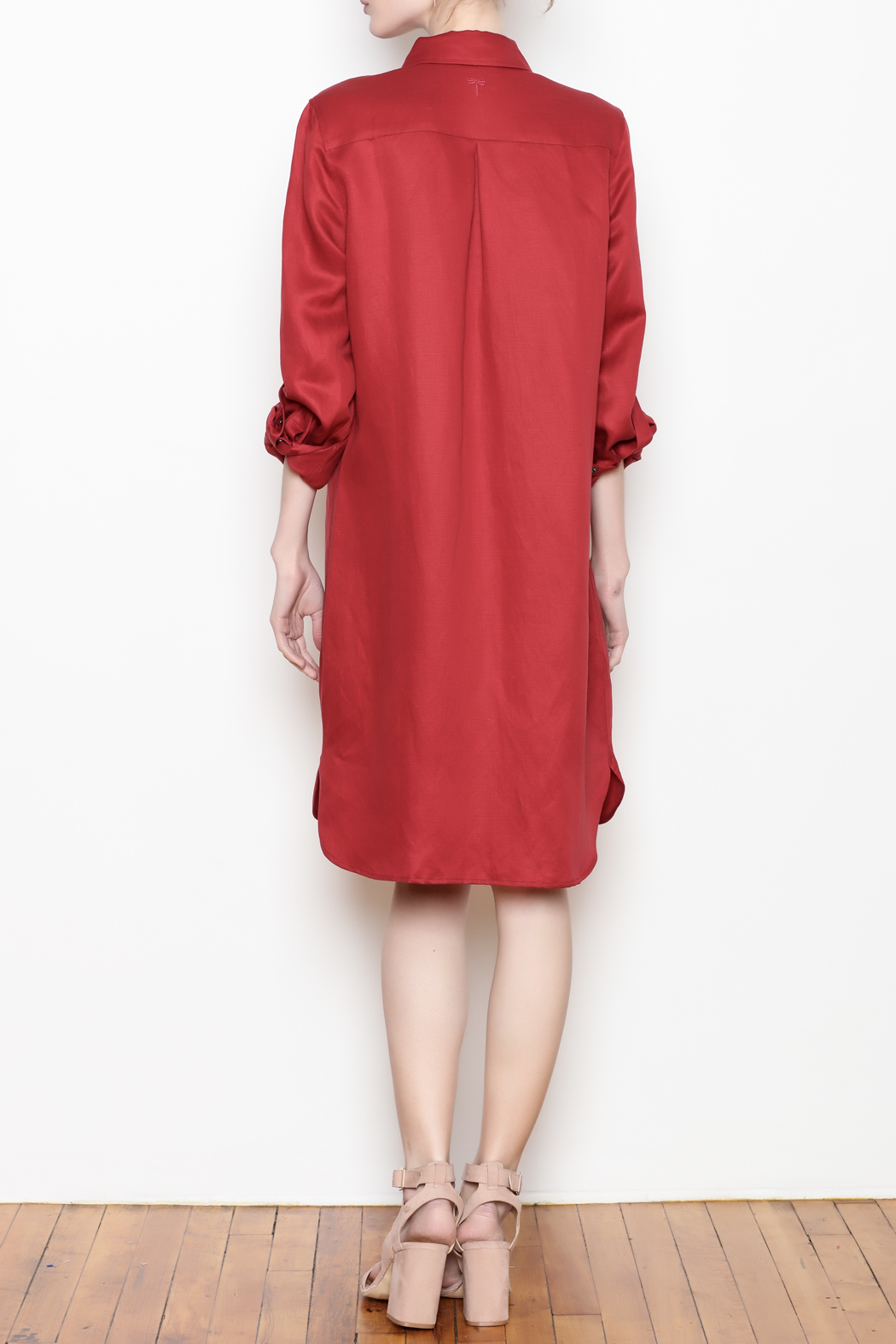 Tyler Boe Shirtdress Button Front - Back Cropped Image