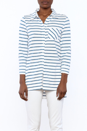 Tyler Boe Striped Button-Down Polo - Side cropped