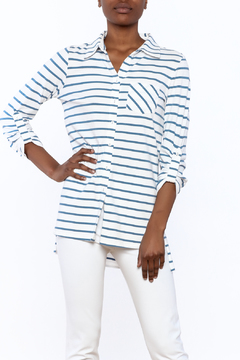 Tyler Boe Striped Button-Down Polo - Product List Image